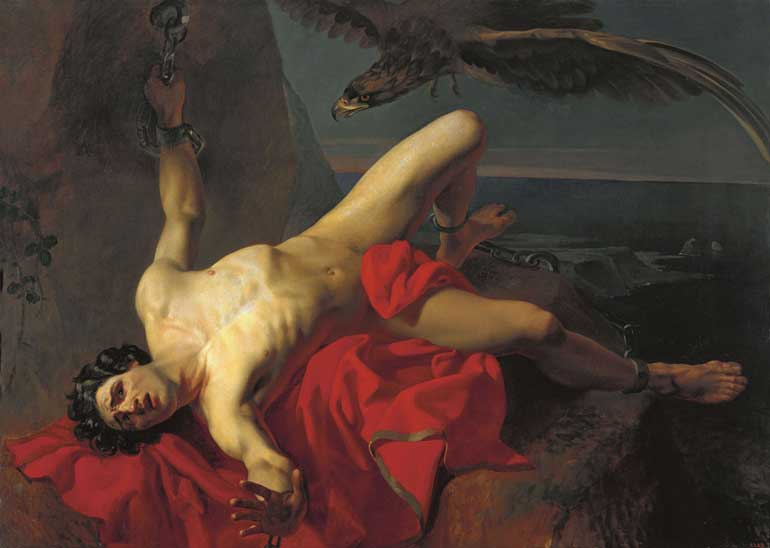Prometheus, 1839, Grigory Karpovich Mikhailov, Hellenica online