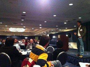 Barry Eisler speaks at WDC Jan. 21, 2012 / Photo by Dan Blank