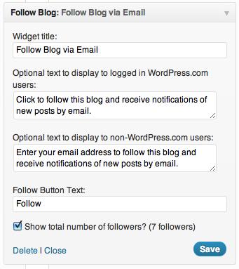 Wordpress e-mail subscription