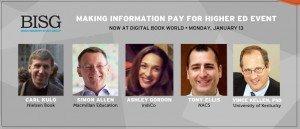 Making Info Pay BISG banner for DBW14