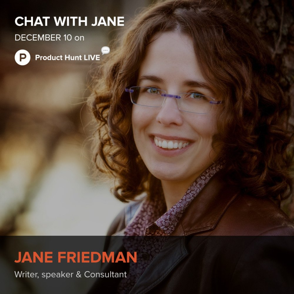 Jane Friedman Product Hunt
