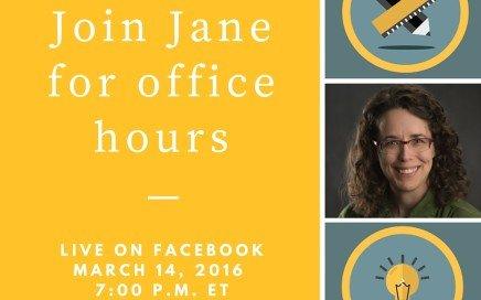 Jane's Facebook office hours