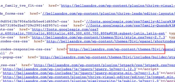 Bella Andre website source code