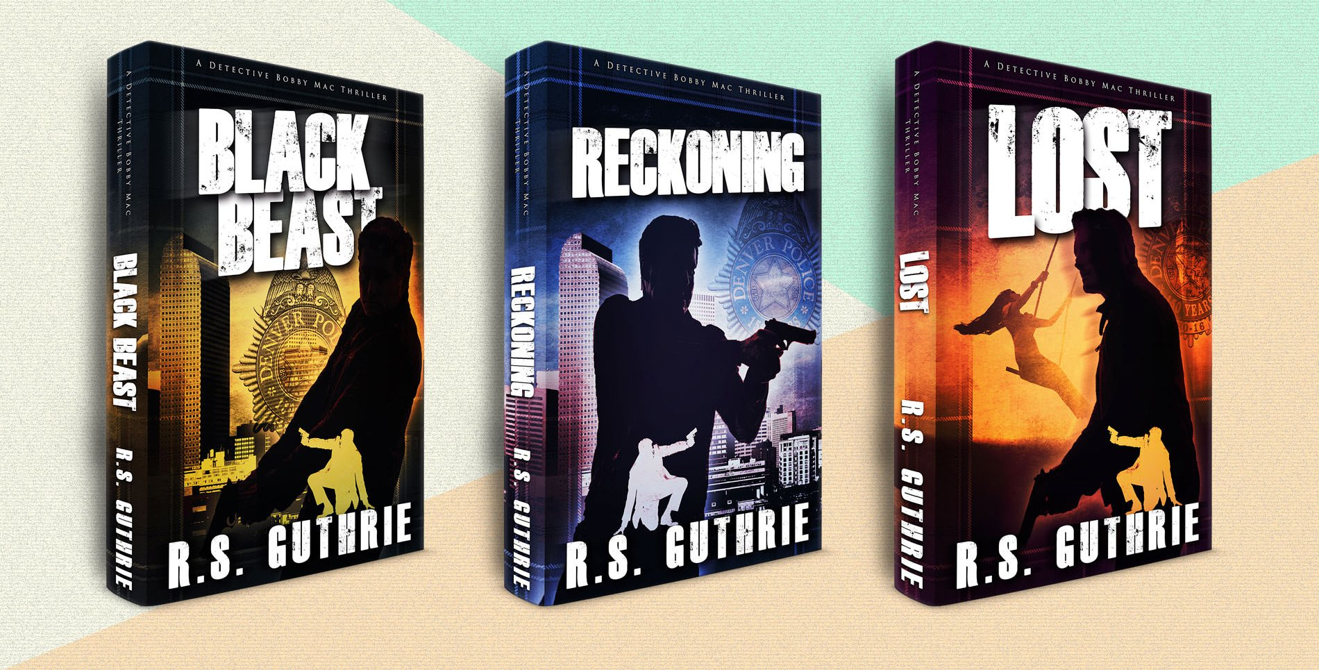 Three books in the Black Beast series after redesign