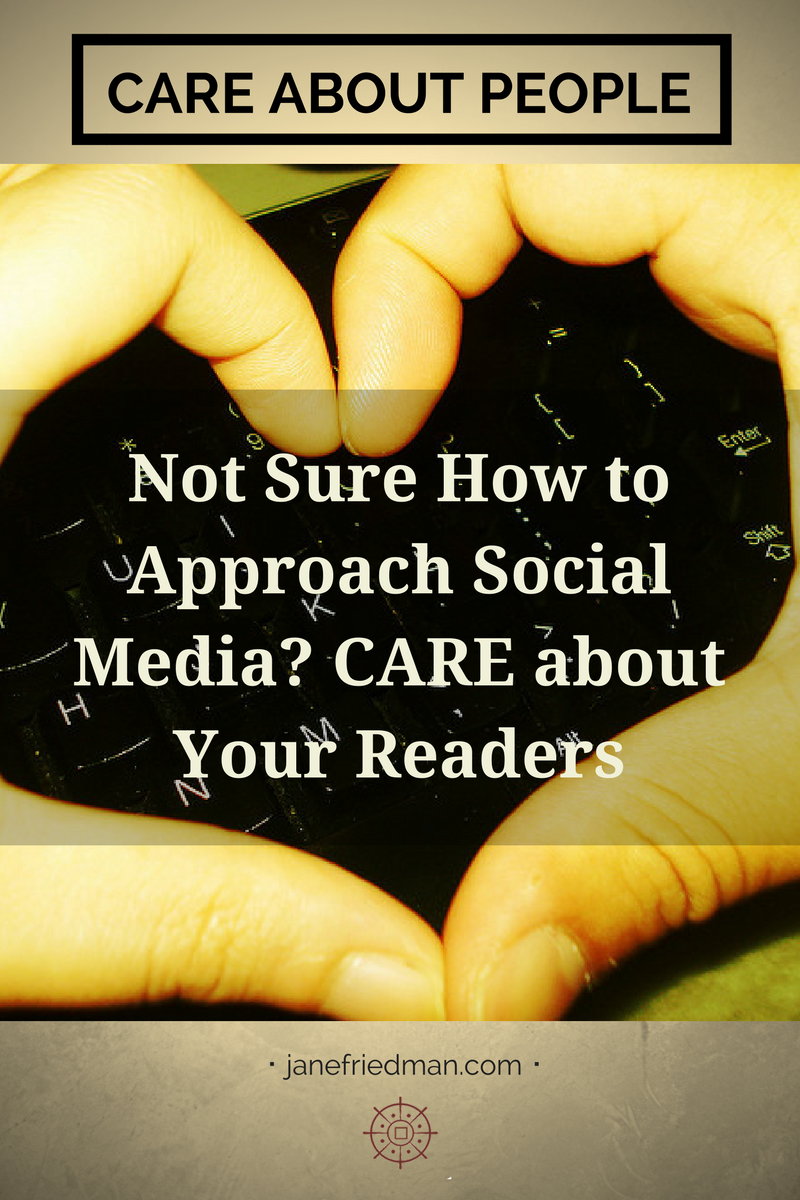 Author and social media expert Frances Caballo (@CaballoFrances) discusses the CARE acronym and how to use it to guide your interactions with readers on social media.