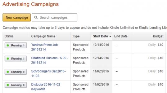 kdp ad campaigns